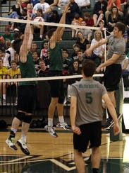 McNick's Alex Wehmeyer gets a kill against Mason last