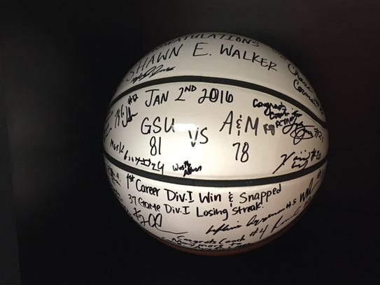 Grambling's basketball team gave this ball to coach