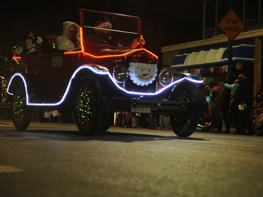 A 1924 Ford owned by Gerald Thiele drives in the City