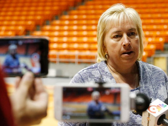 Former UTEP head coach Keitha Adams addresses the local media for the final time as she spoke about her sixteen year career while at UTEP and the memories she take with her. Adams was named the head coach for the Wichita State Shockers basketball program last week.