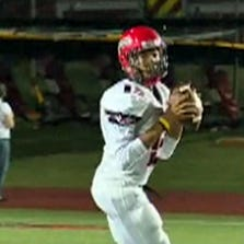 Cedar Hill's quarterback prepares to pass in a game with Coppell on September 19, 2014.
