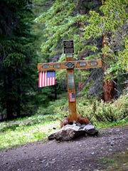 A permanent memorial has been placed on Mount Massive near the location where four soldiers died in a 2009 helicopter crash during training.