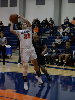 COS sophomore Cassidy Rodriguez, an Orosi High grad, started 15 games this season at guard.