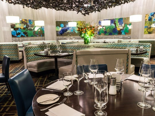 Charlie Palmer Steak in Grand Sierra Resort and Casino celebrates modern steakhouse decor.