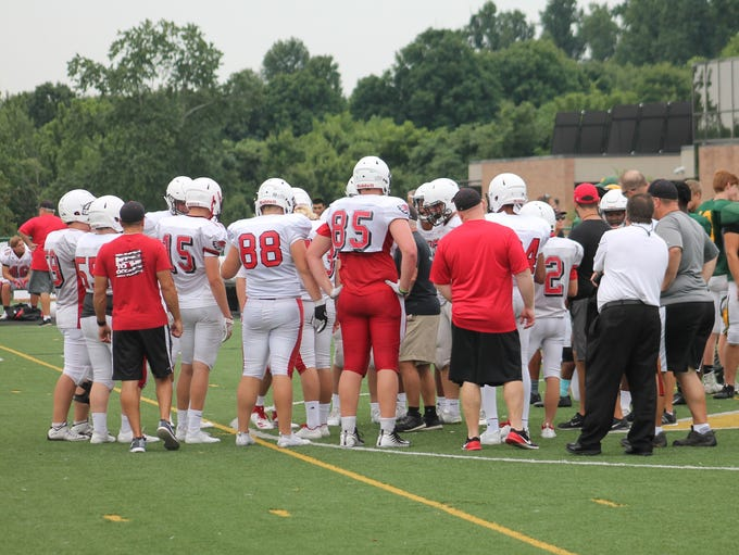No. 85 Connor Foster stands out in most huddles at