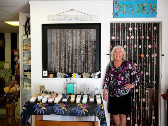 Patricia Sweeney owns Sweeney's SOS on Pine Island, a shop where she sells gifts and her handmade soap.