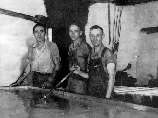 Cheesemakers at Silver Lewis 70 years ago.