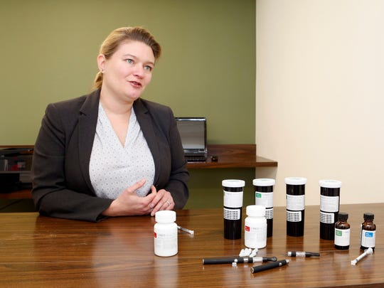 Dr. Laura Bultman, chief medical officer of Vireo Health, talks about the different forms of medical marijuana offered at Vireo Health of New York, a dispensary in White Plains, Jan. 5, 2016. The dispensary is one of 20 in New York.
