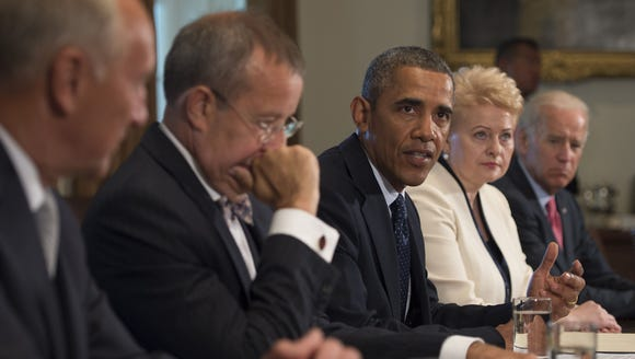 President Obama delivers a statement on Syria during