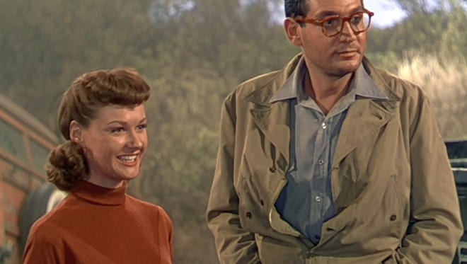 """Ann Robinson and Gene Barry first meet in 'the War of The Worlds""""."""
