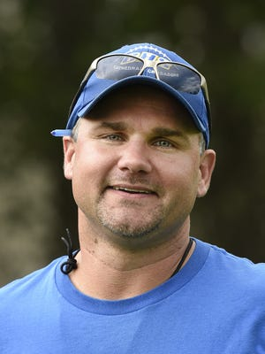 Cathedral head football coach Mark Chamernick in 2016 file photo. He will be the head coach of the St. Cloud Icebreakers girls hockey team this fall.