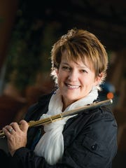 Jazz flutist Holly Hofmann will play with the Hofmann-Mike Wofford Quartet Saturday at Pete Carlson's Golf & Tennis in Palm Desert.