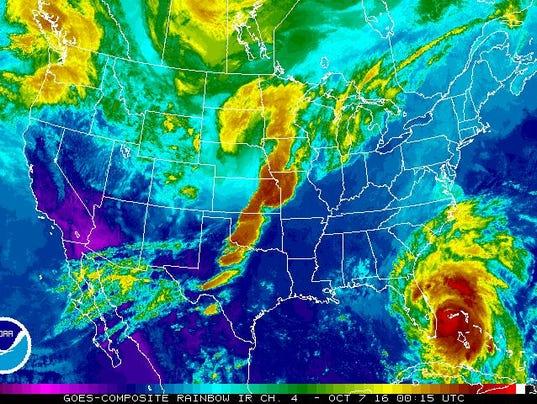 National Weather Service satellite image