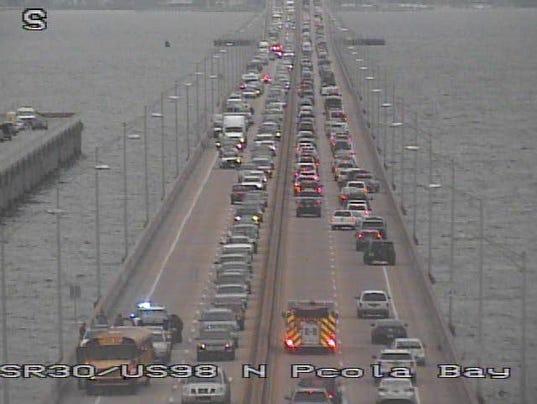 3 injured in pensacola bay bridge wreck for Bay bridge run 2016