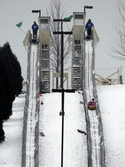 Lowell Park in Waukesha features a 350-foot toboggan run.