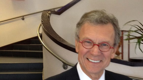 Former Sen. Tom Daschle at the Washington Pavilion during the funeral ceremony for former Sen. George McGovern.