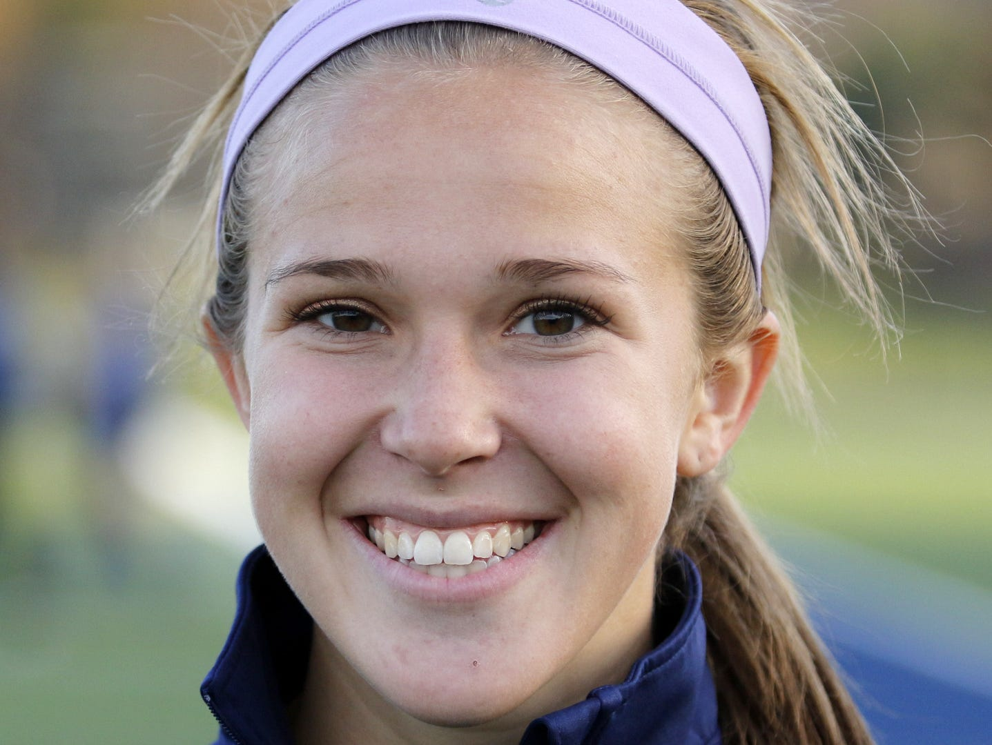 Athlete of the Week Emma Booth of the Notre Dame girls soccer team after Tuesday's sectional victory over Trumansburg.