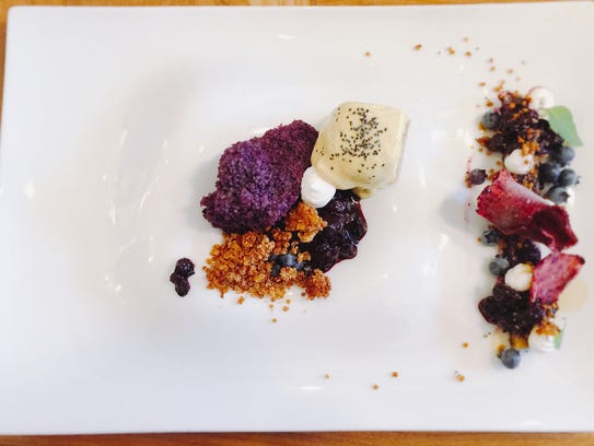 A multi-faceted blueberry was a standout for dessert.