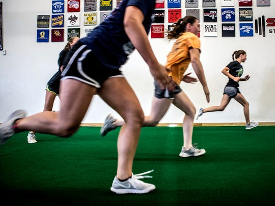 Softball players from all over Licking County and surrounding areas participate in a special training program at Showtime Strength and Performance for a specialized training program designed for the needs of softball players.