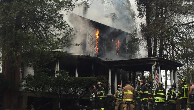 Firefighters from Montrose, Buchanan, Verplanck, Croton, Peekskill, and several other departments were on scene for a structure fire at 16 Angela Drive, Cortlandt