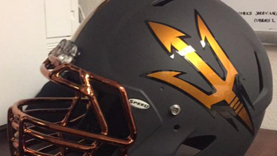 A look at a possible new ASU helmet.