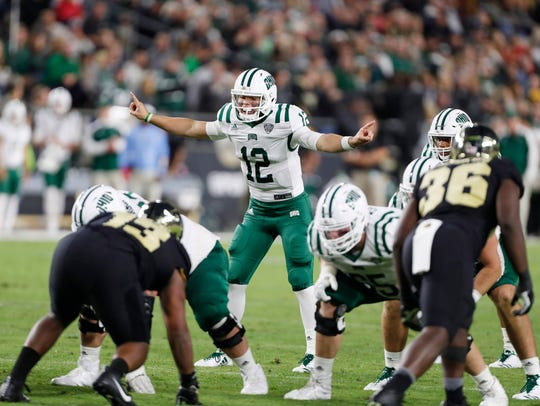 Ohio quarterback Nathan Rourke will be asked to lead