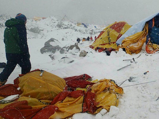 AP NEPAL EARTHQUAKE AVALANCHE I