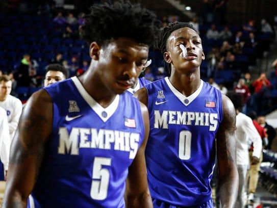 University of Memphis teammates Kareem Brewton Jr.