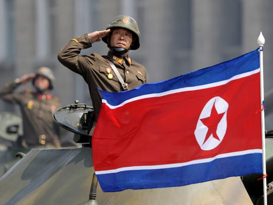 In this April 15 file photo, a North Korean national