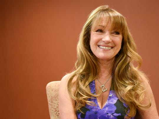 Jane Seymour talks about her fundraising work during a media interview Friday, May 5, in St. Cloud.