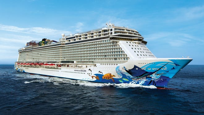 An aerial view of Norwegian Escape.