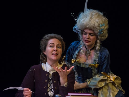 "Corrie Maxwell, left, and Jennifer Richmond in ""The Revolutionists."""