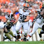 Browns center Alex Mack is excited to be back at work after suffering a broken leg last October.