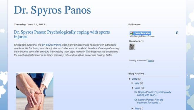 Dr. Spyros Panos' blog.