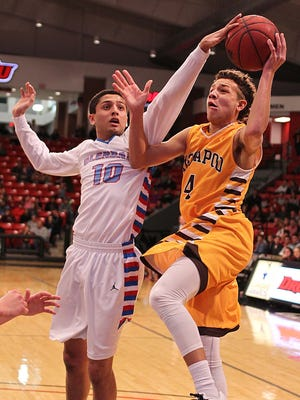 Monty Johal of Glendale (left) and Isaac Johnson of Kickapoo (right) will meet Tuesday night on the basketball court when Glendale and Kickapoo square off at the O'Reilly Family Event Center.