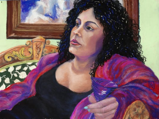 """Portrait of Diane"" by Rami Scully, part of the Pastel Society of El Paso exhibition."