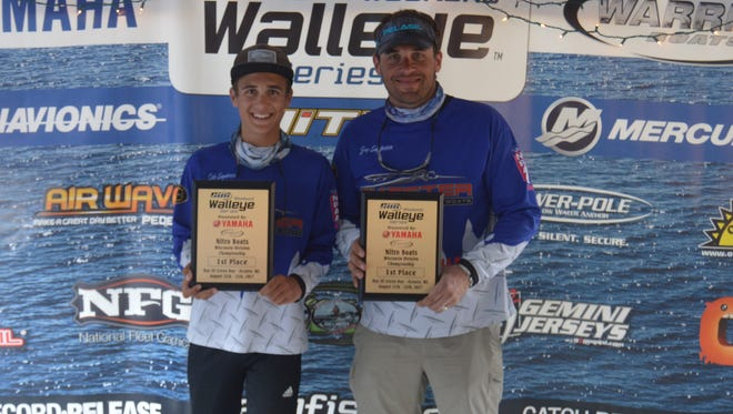 Cole Engebretson, 14, and his father, Guy, both of Wausau, won $8,500 with the top catch in an Oconto walleye tournament Aug. 11-12, 2017.