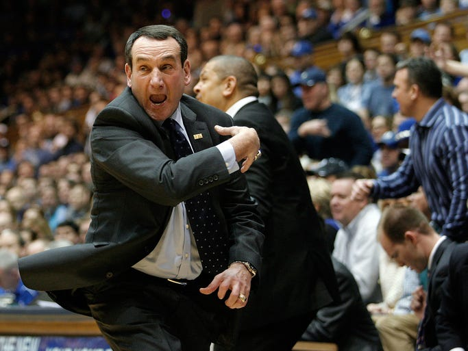 Coach K thinks that was a charge. And that. And that. It's always a charge.