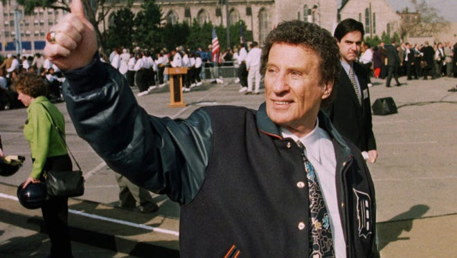 Detroit Tigers owner Mike Ilitch at the groundbreaking for Comerica Park in 1997.