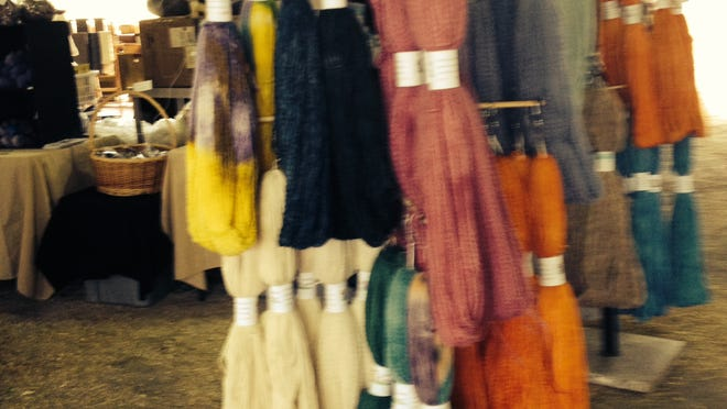 Wool and alpaca were the two most popular fibers at the festival, but if you looked around, you'd find Angora bunnies, mohair and other fibers.