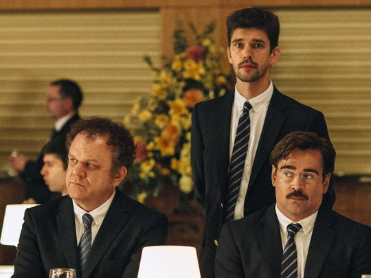 """In """"The Lobster,"""" characters played by John C. Reilly (from left), Ben Wishaw and Colin Farrell befriend each other."""
