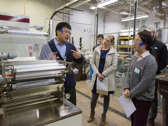 Wisconsin paper and packaging industry professionals attend a course at the University of Wisconsin-Stevens Point, which proposes to expand its paper science and chemical engineering degree programs with double the number of students.