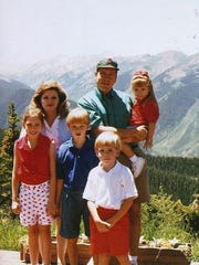 Dr. Anders and his family in Colorado in 1998