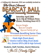 Flier for the first-ever Bearcat Ball at William Penn