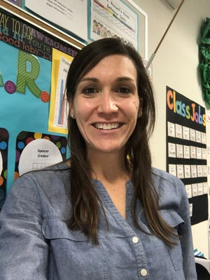Carlie Roszell, a teacher at Ossun Elementary, will be the Saints/Chevron Teacher of the Week at the Nov. 27 game.