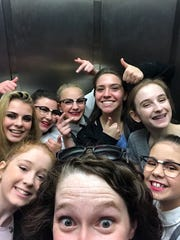 """""""We took a lot of elevator selfies!"""" says artistic director Valerie Kelly, who likes to keep things fun with her dance company members."""
