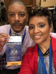 Chad and Tasha Hart pose for a photo at a Toastmasters