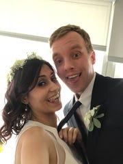 Ricky Smith and Mona Ashraf Khorasani share a funny