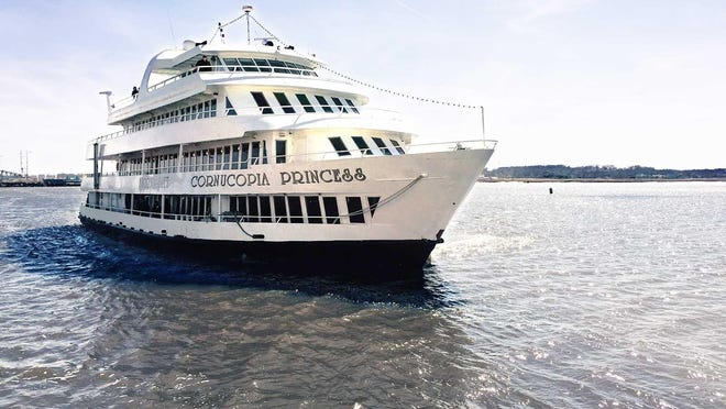 The Cornucopia Princess, the line's starship, has three dining rooms, two dance floors with a live band or a DJ and a 15,000-square-foot observation deck for the 400 guests that can be accommodated onboard.