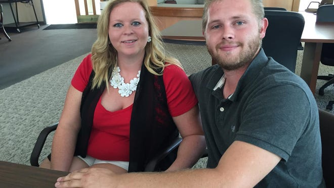 April Rodgers and Corey Chaney, who are engaged, were the victims of a series of false abuse allegations that caused police to come to their Elizabethtown home late at night.
